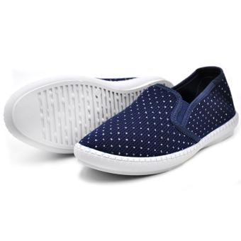 Tanggo Aggie Fashionable Slip-Ons Women's Rubber Shoes (navy blue) - 3