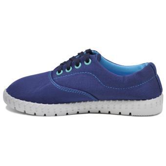 Tanggo Alena Fashionable Sneakers Women's Rubber Shoes (blue) - 2