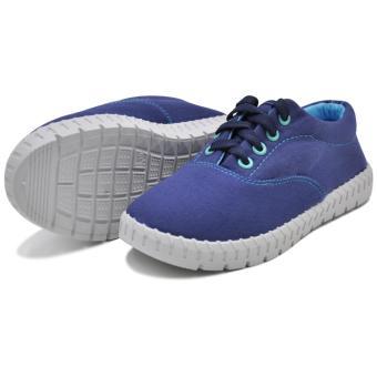 Tanggo Alena Fashionable Sneakers Women's Rubber Shoes (blue) - 3