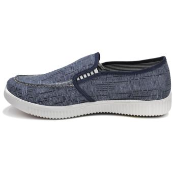 Tanggo Anton Fashion Sneakers Men's Rubber Shoes Slip-Ons/Loafers(blue) - 2