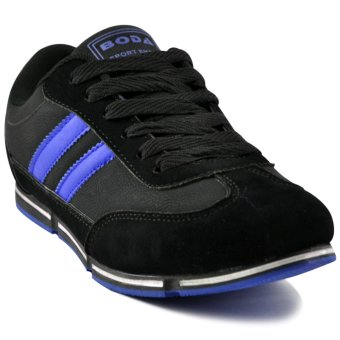 Tanggo Boda Fashion Sneakers Men's Rubber Shoes (black/blue) Price Philippines