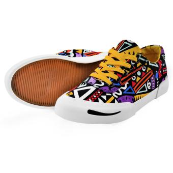 Tanggo Cara Fashion Sneakers Women's Rubber Shoes Tribal Design - 3