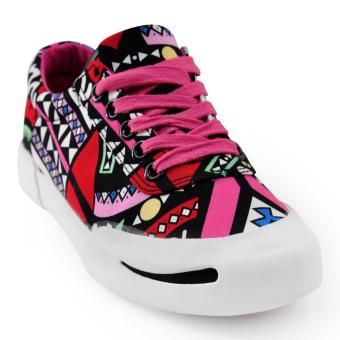 Tanggo Cara Fashion Sneakers Women's Rubber Shoes Tribal Design
