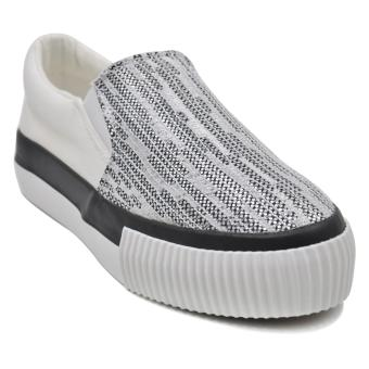 Tanggo Carlyne Fashion Sneakers Slip-On Wome's Rubber Shoes (white)