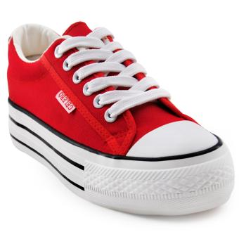 Tanggo Coleen Fashion Sneakers Lightweight Breathable Shoes (red)