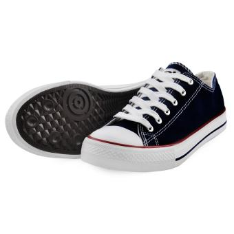 Tanggo Drew Fashion Sneakers Men's Casual Rubber Shoes (navy blue) - 3