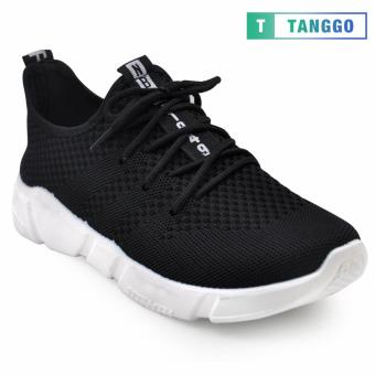 Tanggo Fashion Fly Woven Sneakers Shoes for Men C-3 (Black)