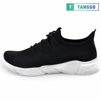 Tanggo Fashion Fly Woven Sneakers Shoes for Men C-3 (Black) - 2