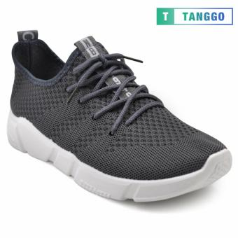 Tanggo Fashion Fly Woven Sneakers Shoes for Men C-3 (Grey)