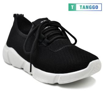Tanggo Fashion Mesh Sneakers Shoes for Women 1006 (black)