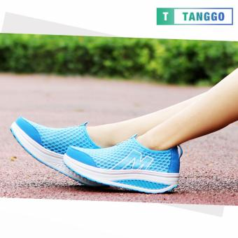 Tanggo Fashion Mesh Sneakers Shoes for Women 3308 (Light Blue)