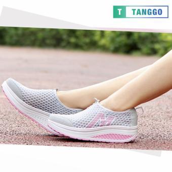Tanggo Fashion Mesh Sneakers Shoes for Women 3308 (Light Grey)