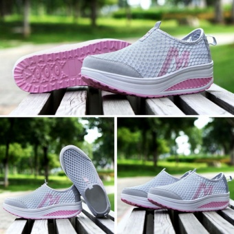 Tanggo Fashion Mesh Sneakers Shoes for Women 3308 (Light Grey) - 4