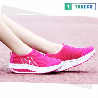 Tanggo Fashion Mesh Sneakers Shoes for Women 3308 (Pink)