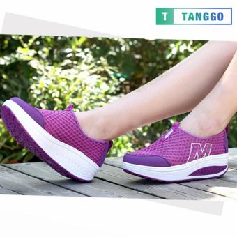 Tanggo Fashion Mesh Sneakers Shoes for Women 3308 (Purple)