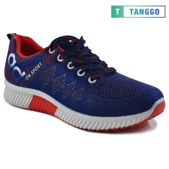 Tanggo Fashion Sneakers Women's Rubber Shoes 308A (navy blue/red) - 4