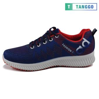 Tanggo Fashion Sneakers Women's Rubber Shoes 308A (navy blue/red) - 5