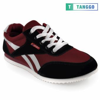 Tanggo Fashion Sport Sneakers Shoes for Men 801 (Maroon)