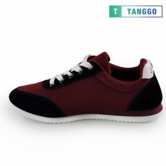 Tanggo Fashion Sport Sneakers Shoes for Men 801 (Maroon) - 3