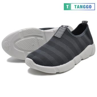Tanggo Fashion Woven Fabric Shoes Men's Slip-On C-1 (grey)