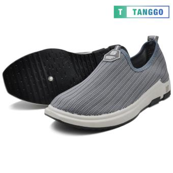 Tanggo Fashion Woven Fabric Shoes Men's Slip-On 107 (grey)