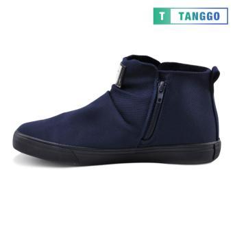 Tanggo High Cut Zip Sneakers Men's Casual Shoes 9263 (Navy Blue) - 3