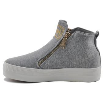 Tanggo Push Fashion Sneakers Women's High Cut Rubber Shoes (grey) - 2