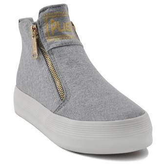 Tanggo Push Fashion Sneakers Women's High Cut Rubber Shoes (grey)