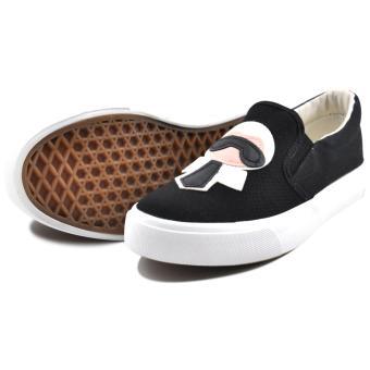 Tanggo Sandy Fashion Sneakers Women's Rubber Shoes Slip-On (black) - 3