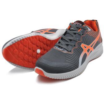 Tanggo William Fashion Sneakers Men's Rubber Shoes (grey/orange) - 3