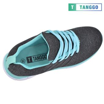 Tanggo Women's Sneakers Rubber Shoes 59-2 with Free 1 Precious Herbal Way Foot Powder 50g (black) - 2