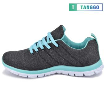 Tanggo Women's Sneakers Rubber Shoes 59-2 with Free 1 Precious Herbal Way Foot Powder 50g (black) - 4