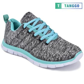 Tanggo Women's Sneakers Rubber Shoes 59-2 with Free 1 Precious Herbal Way Foot Powder 50g (grey) - 4