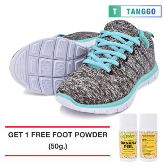 Tanggo Women's Sneakers Rubber Shoes 59-2 with Free 1 Precious Herbal Way Foot Powder 50g (grey)
