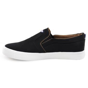 Tanggo Xin Fashion Sneakers Men's Flat Shoes Slip-On (black) - 2