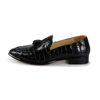 Tassel Slip-Ons Flat Shoes - Black - picture 2