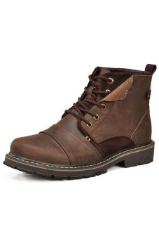 Tauntte Winter Fashion Genuine Leather Work and Safety Boots(Brown) (Intl) Price Philippines