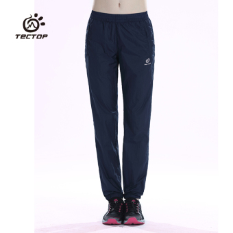 Tectop outdoor female skinny Slim fit stretch quick-drying pants (Zhang blue female)