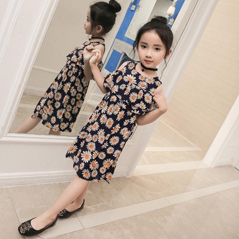 272b4ebd19f ... Teenage Girl Dresses Summer Children s Clothing Kids Flower  DressChiffon Princess Dresses For Age2 3 4 5 ...