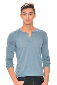 Tex-Cock Long Sleeves Camisa de Chino (Gray) Price Philippines