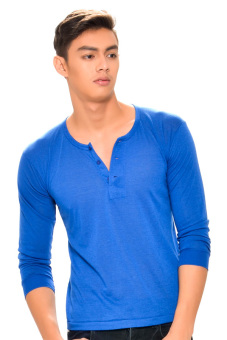 Tex-Cock Long Sleeves Camisa de Chino (Royal Blue) Price Philippines