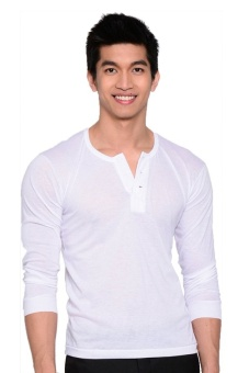 Tex-Cock Long Sleeves Camisa de Chino (White) Price Philippines