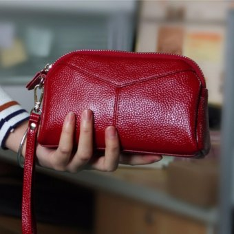 TF Women wallet Han edition Fashion leather Zero wallet(Red) - intl