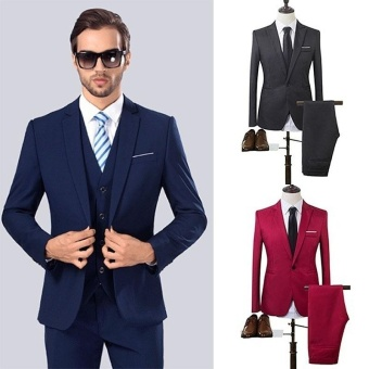 The High Quality Spring 2017 Business and Leisure Suit A Two-pieceSuit The Groom's Best Man Wedding 8 Colors - intl