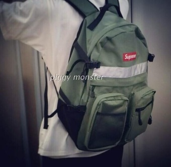 The New SUPREME Tide Brand 3M Reflective Large Capacity MultiPocket Leisure Men and Women Backpack Bag Backpack - intl