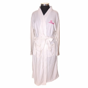 The Wedding Library Bridal Robes Premium 002 Towellette (White)