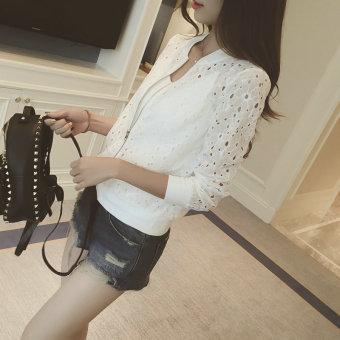 Buy Latest Thin Porous Lace Short Small Jacket Korean Style ...