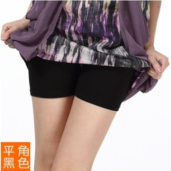 Three points cotton candy color 3 points anti-I shorts leggings (Black)
