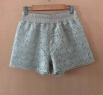 Three points white New style women's Spring and Autumn safety shorts (Light gray color) (Light gray color)