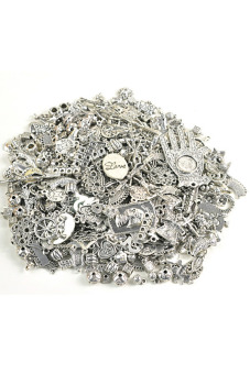 Tibetan Silver Charms Beads Findings Mix
